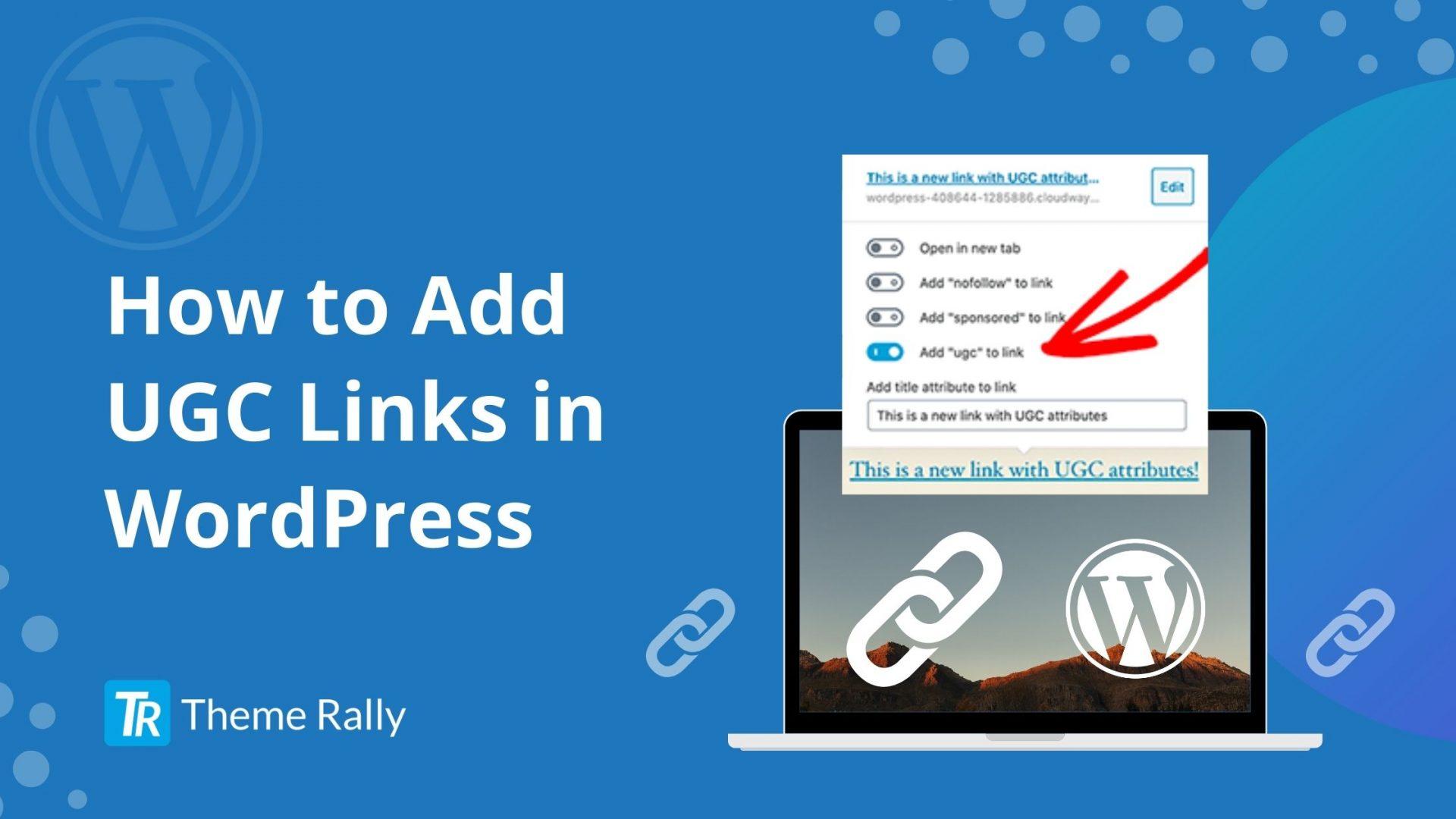 How to Add UGC Links in WordPress