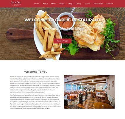 responsive restaurant wordpress theme