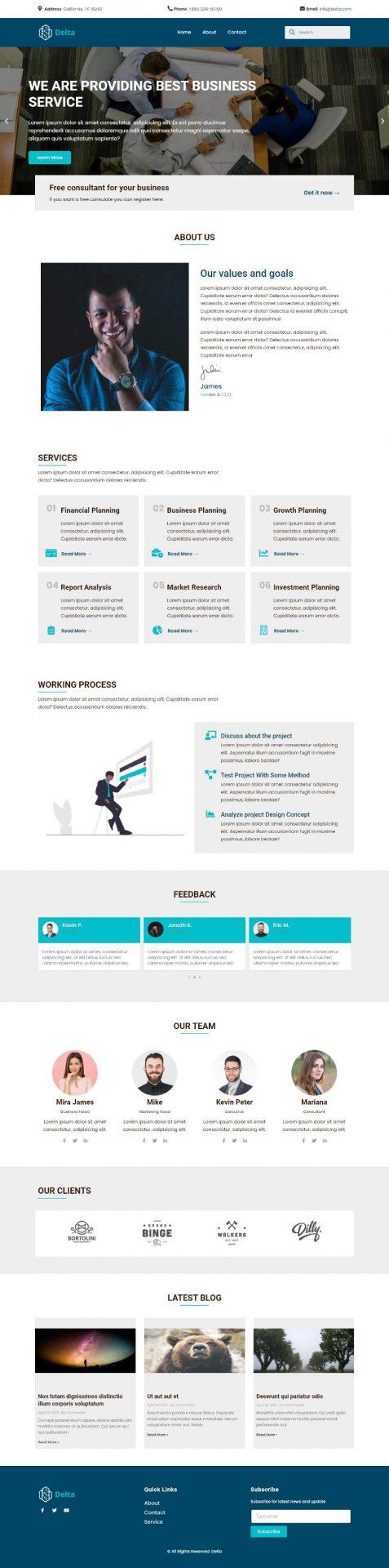 responsive delta business template