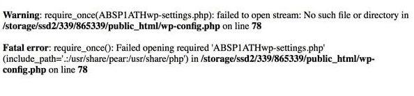 error-output