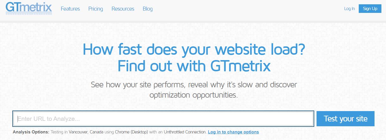gtmatrix-website-performance-tool