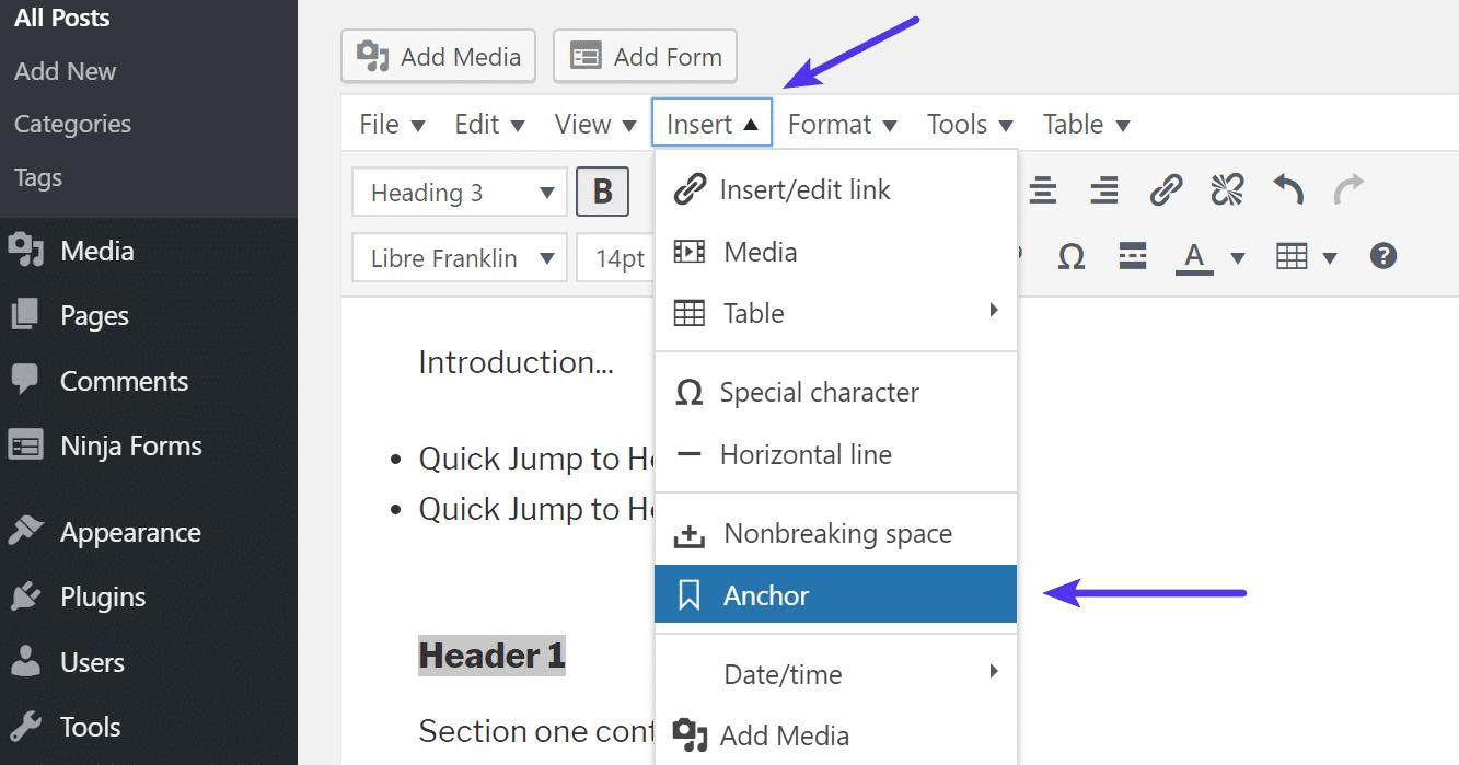 create-anchor-link-in-wordpress