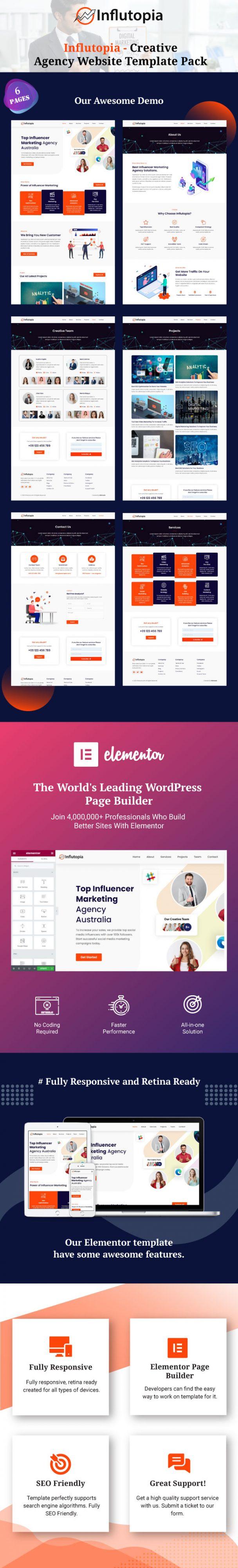 influtopia-creative-agency-website-template-pack