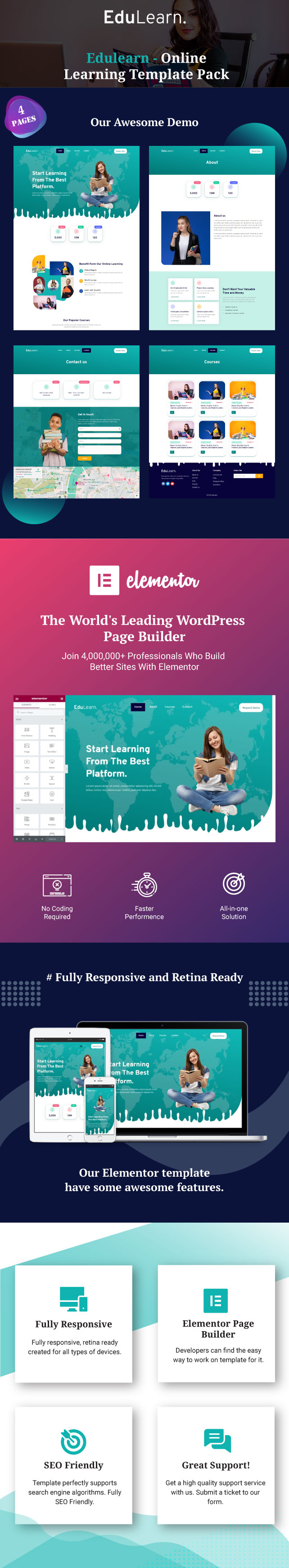 edulearn-online-learning-template-pack