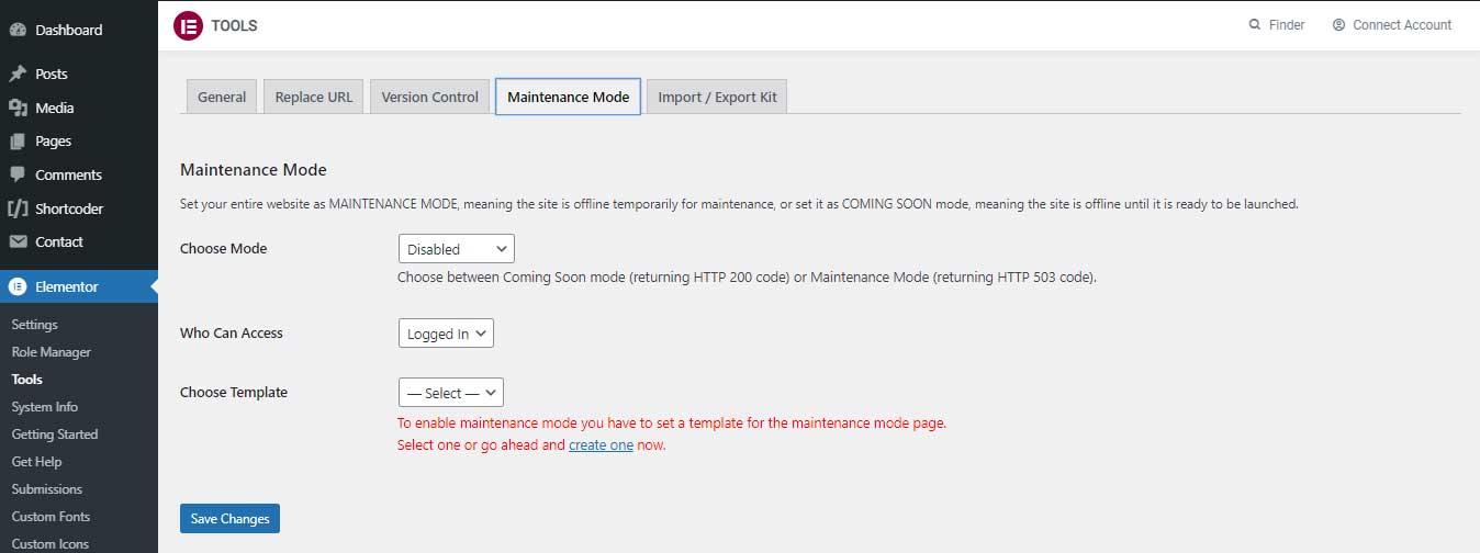 elementor-maintenance-mode-settings