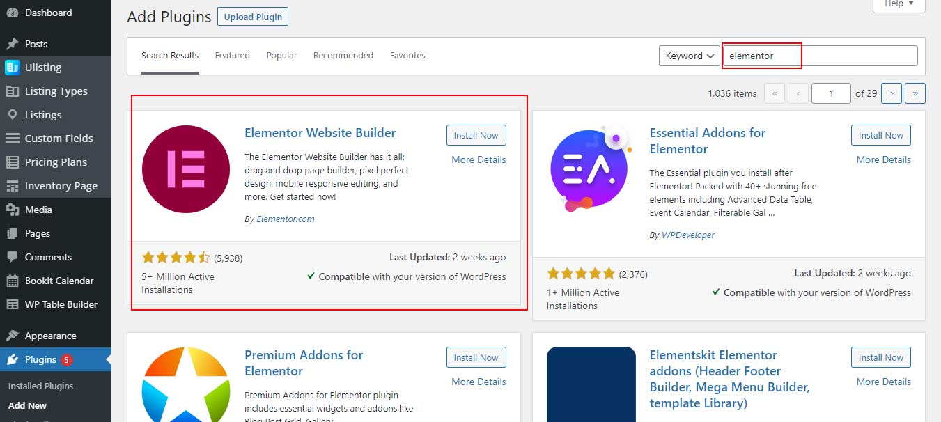 search-elementor-to-use