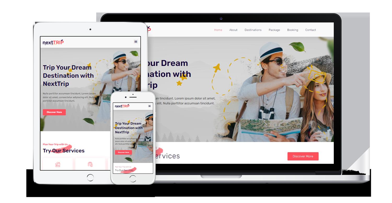 nexttrip-travel-agency-website-template-pack
